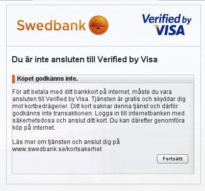 logga in i internetbanken swedbank